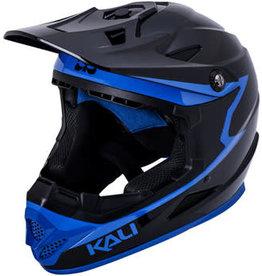 Kali Protectives Kali Zoka Grit Helmet: Gloss Black/Blue, SM