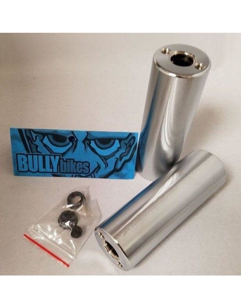 Bully Bully BMX Axle Pegs (Pair) Chrome 14MM / 3/8""