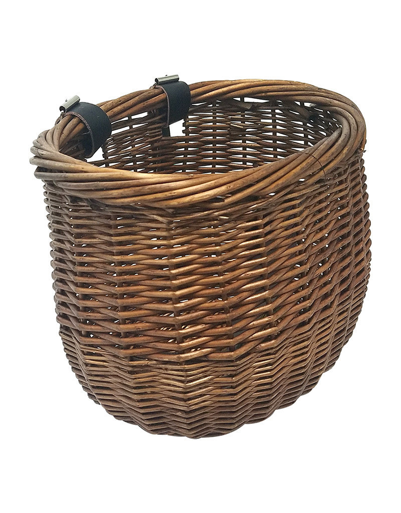 Sunlite Front Basket Willow Bushel Honey Brown Strap-On 13x8x9