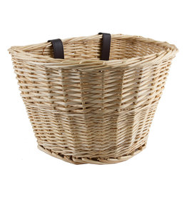 Sunlite Front Basket Willow Natural 14x10x8.5 w/Straps