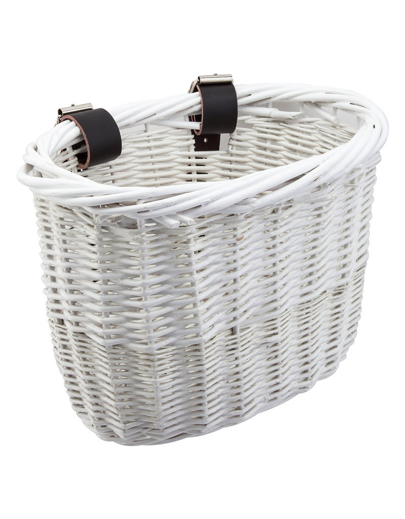 Sunlite Front Basket Willow Mini White Strap-On 9.75x6x7.5