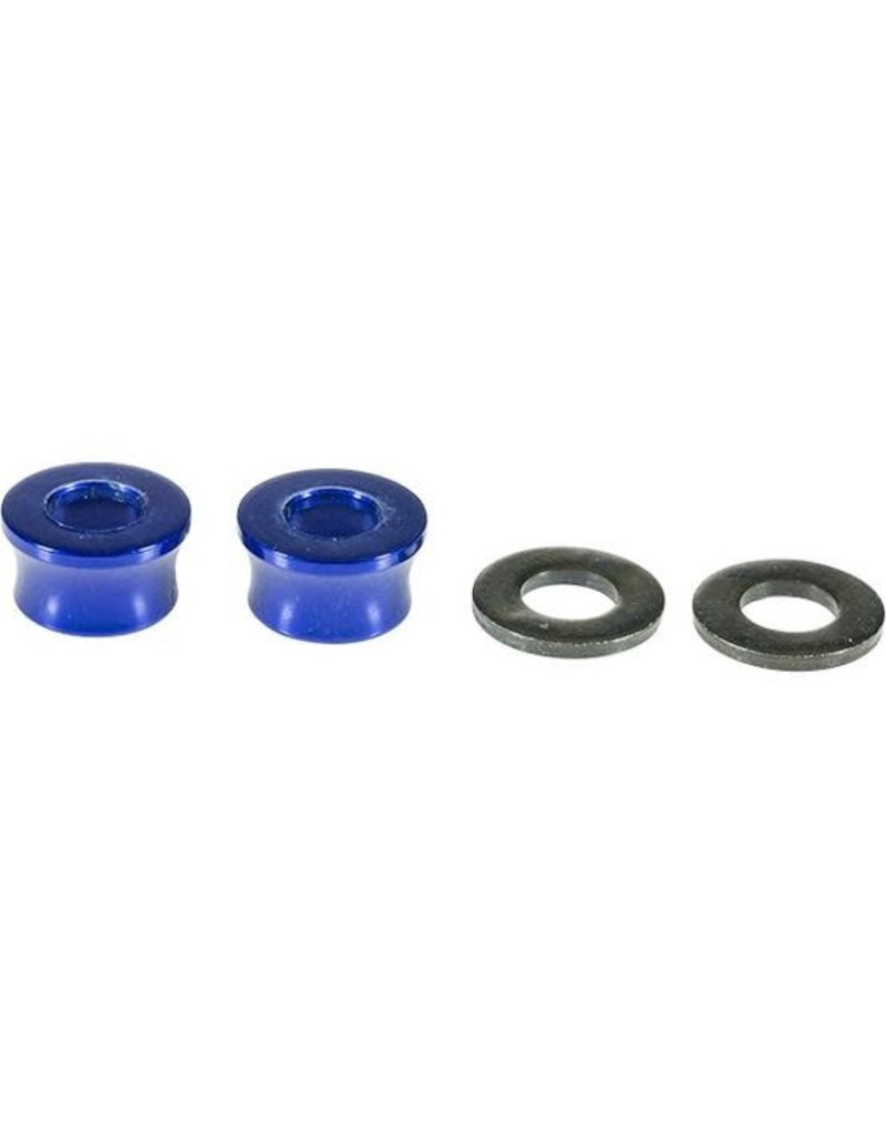 "Profile Racing Profile Racing 3/8"" Volcano Washer set, Blue"