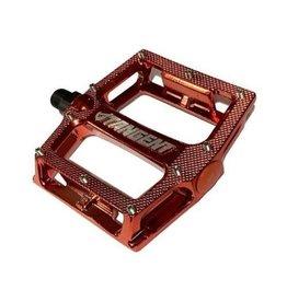 Tangent Tangent Aluminim Platform Pedals Red Chrome