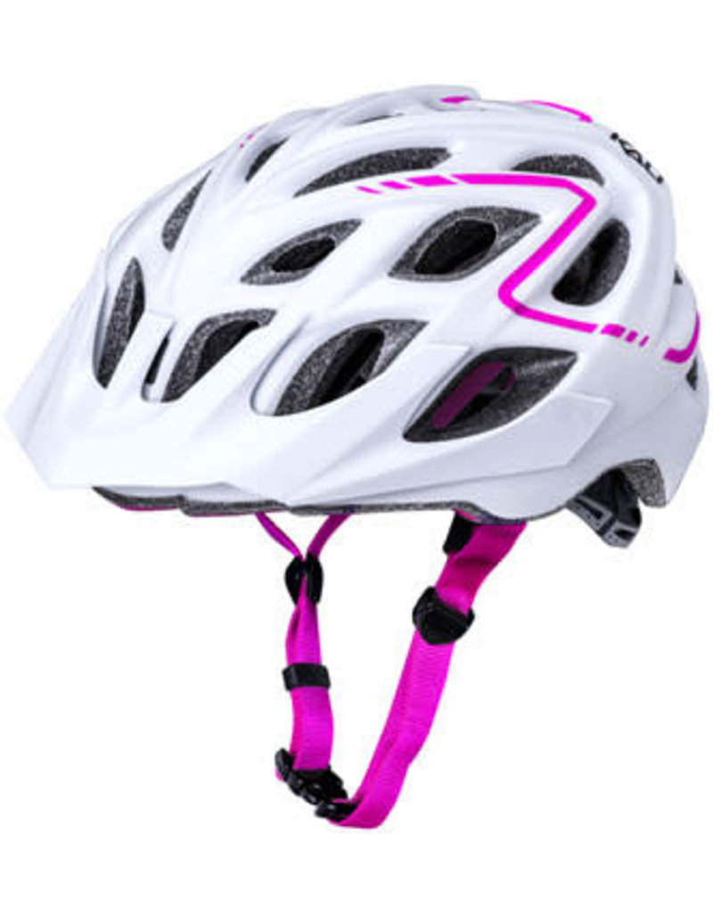 Kali Protectives Kali Chakra Plus Reflex Helmet, Matte White Pink, Small/Medium
