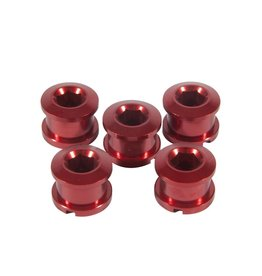 Insight INSIGHT Alloy Chainring Bolts 6.5mm Red, 6.5mm X 4mm