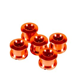 Insight Insight Alloy Chainring Bolts 6.5mm Orange 6.5mm X 4mm