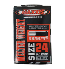 Maxxis 24x1.90-2.125 Maxxis Tube Schrader Valve 32mm .9mil Welterweight