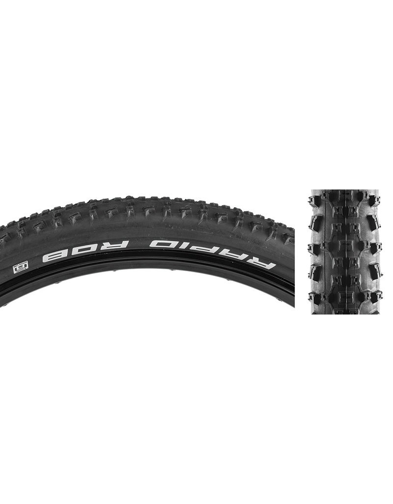Schwalbe 26'x2.25 Schwalbe Rapid Rob, Wire, Clincher, SBC, K-Guard, 50TPI, Black