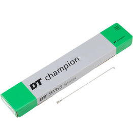 DT Swiss Champion Spoke: 2.0mm, 186mm, J-bend, Silver, Box of 100