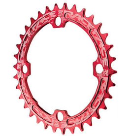 RaceFace RaceFace Narrow Wide Chainring: 104mm BCD, 34t, Red