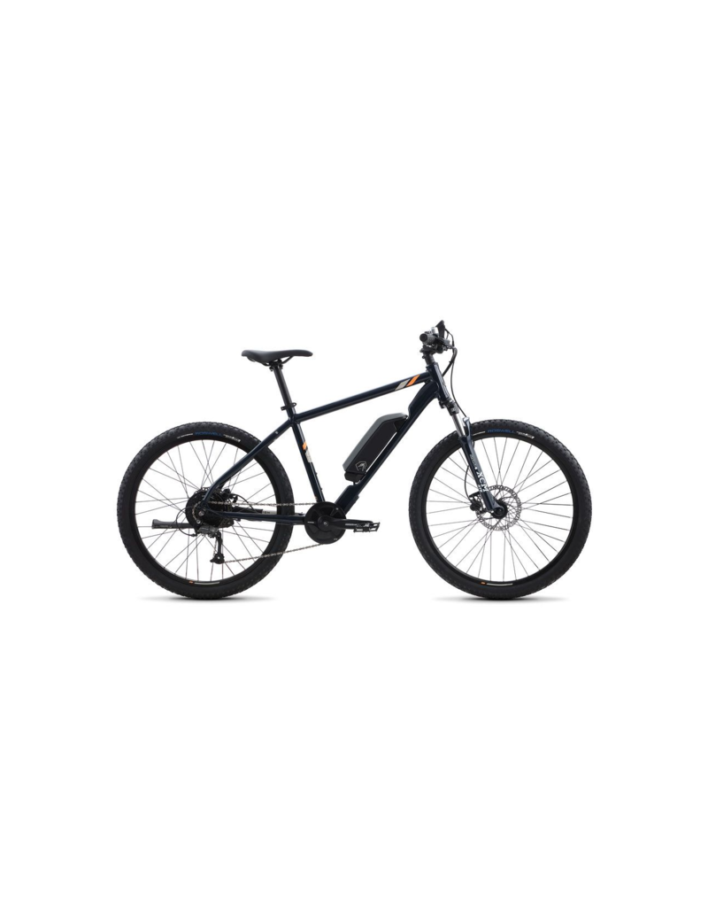 Raleigh 2019 Raleigh Electric Talus iE Step Over Dark Blue LG