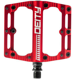 "Deity Components Deity Black Kat Pedals - Platform, Aluminum, 9/16"", Red"