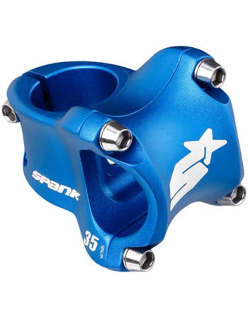 "Spank Spank Spike Race 2 Stem - 35mm, 31.8 Clamp, +/-0, 1 1/8"", Aluminum, Blue"