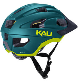 Kali Protectives Kali Protectives Pace Helmet - Matte Teal/Yellow, Small/Medium