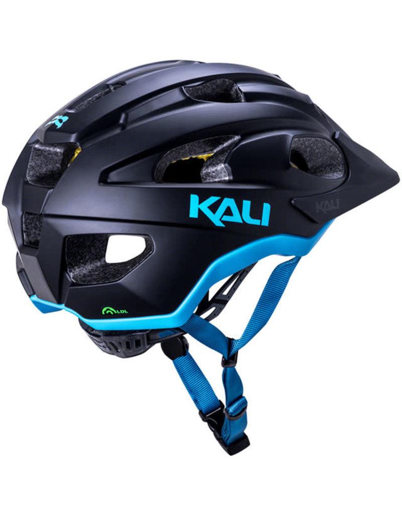 Kali Protectives Kali Protectives Pace Helmet - Matte Black/Blue, Small/Medium