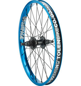 "Stolen Stolen Rampage Rear Wheel - 20"", 14 x 110mm, Rim Brake, Cassette, Blue, Clincher"