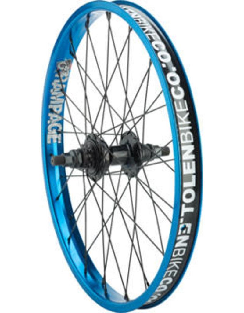 "Stolen Stolen Rampage Rear Wheel - 20"", 14 x 110mm, Rim Brake, Cassette, Blue, Clincher"