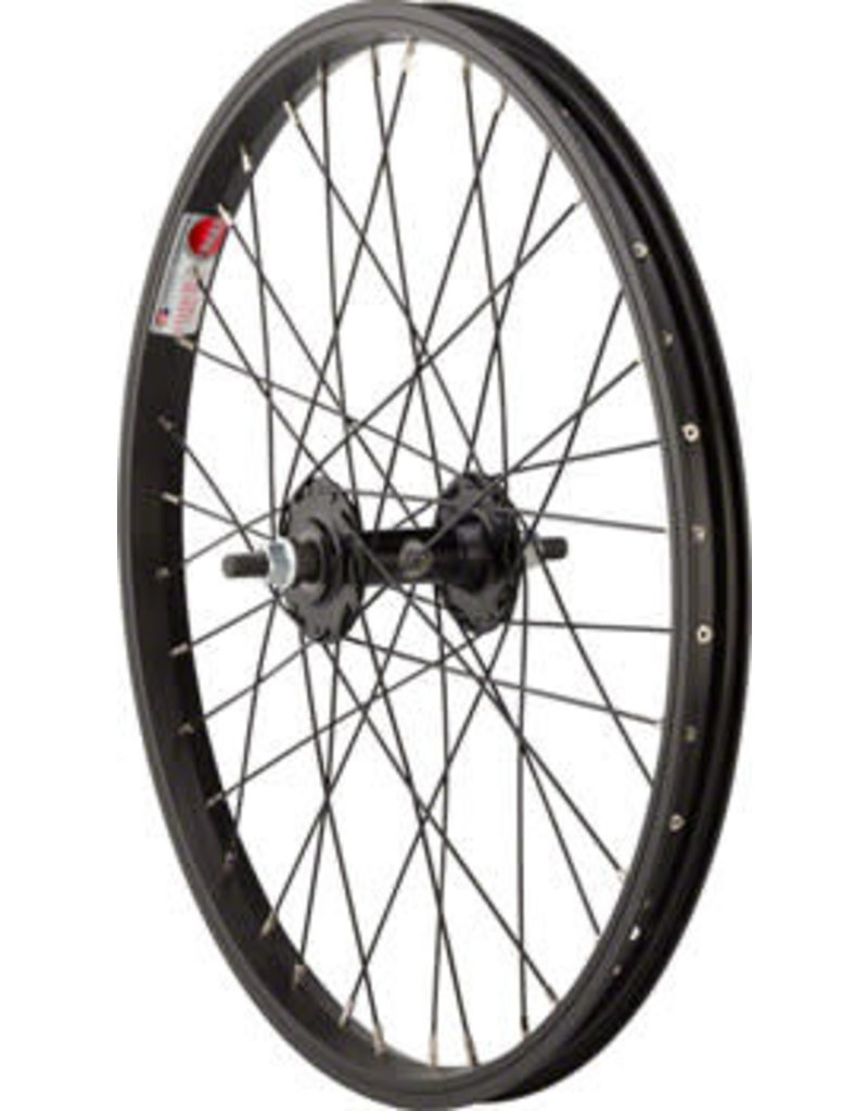 "Sta-Tru Front Wheel Front Wheel - 20"", 3/8"" x 100mm, Rim Brake, Black, Clincher"