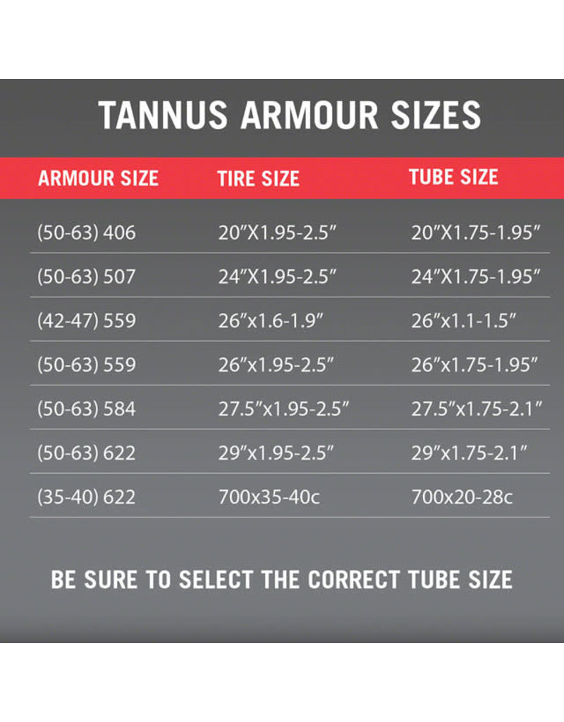 Tannus Tannus Armour Tire Insert 27.5 x 2.0-2.5 Single