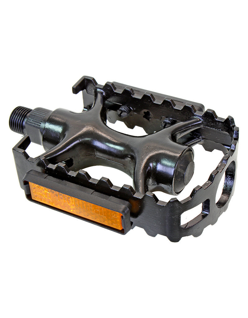 Sunlite Sport Pedals 1pc (body/cage) Alloy 9/16in Black