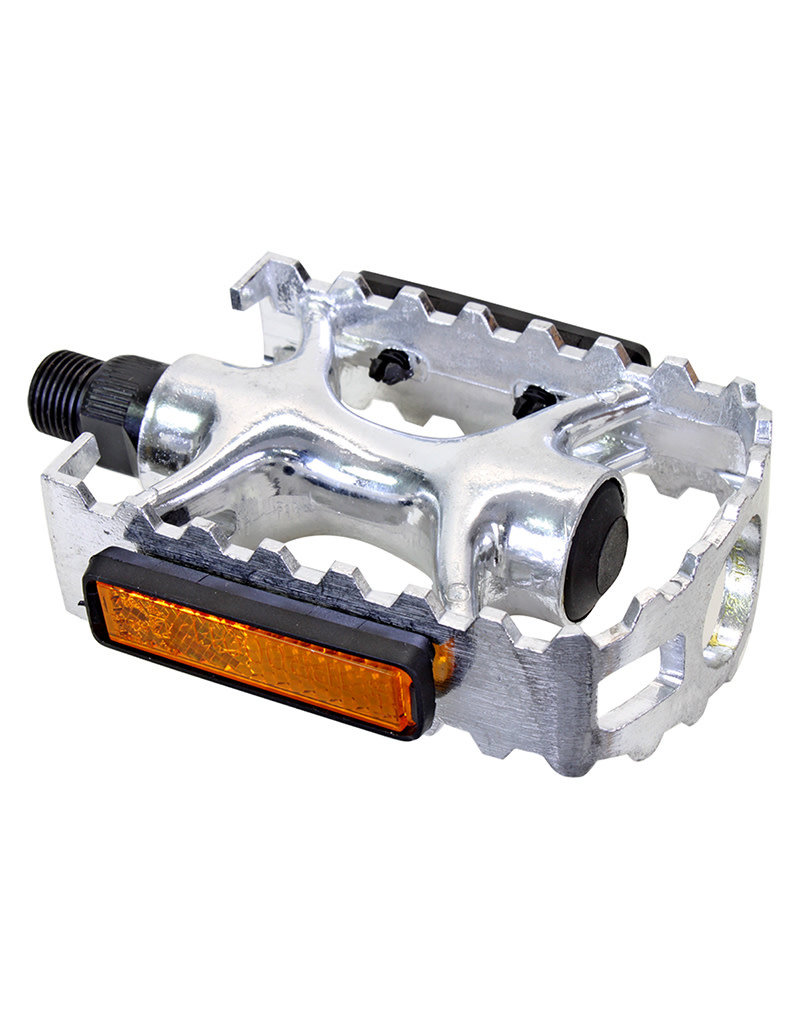 Sunlite Sport Pedals 1pc (body/cage) Alloy 9/16in Silver
