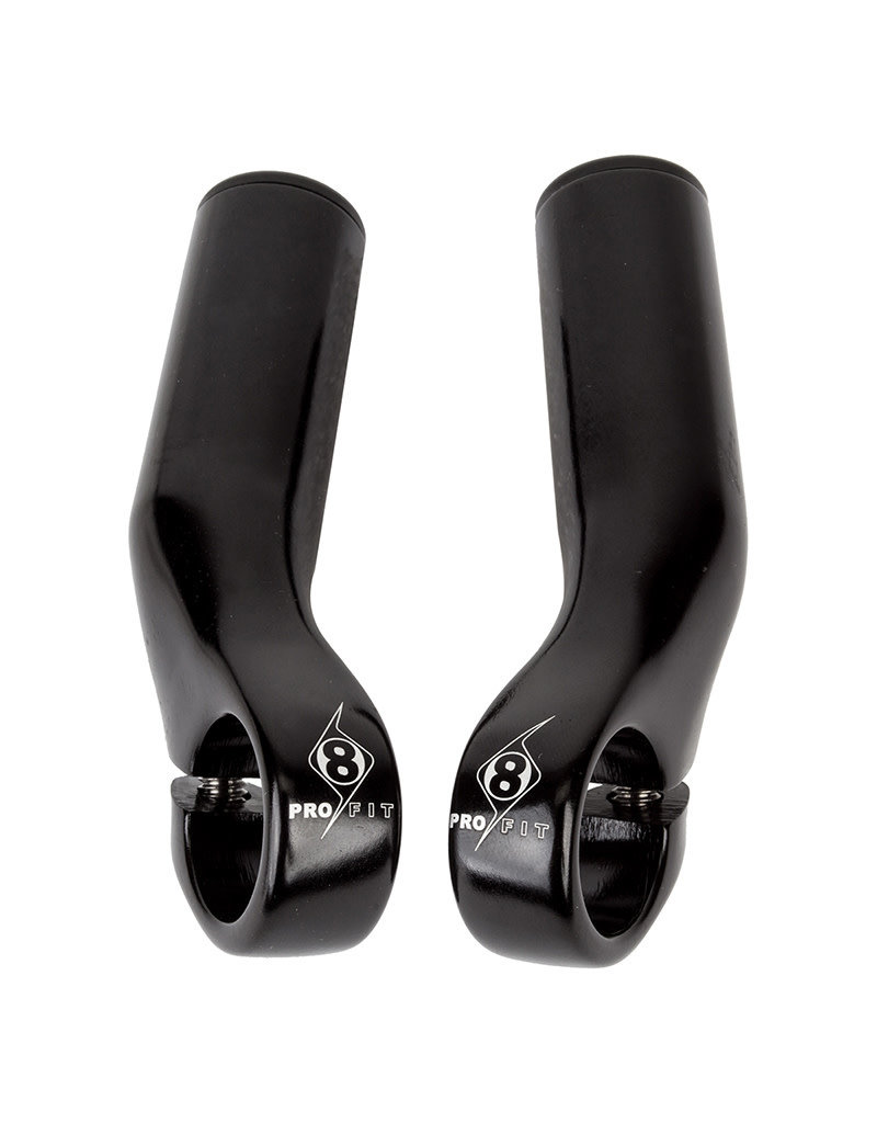 Origin8 Origin8 Bar Ends P-Lite Alloy Black