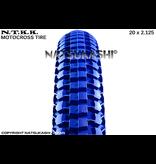 "Panaracer 20x2.125 Panaracer NTKK ""Snakebelly"" BMX Foldable Kevlar Tire - Blue"