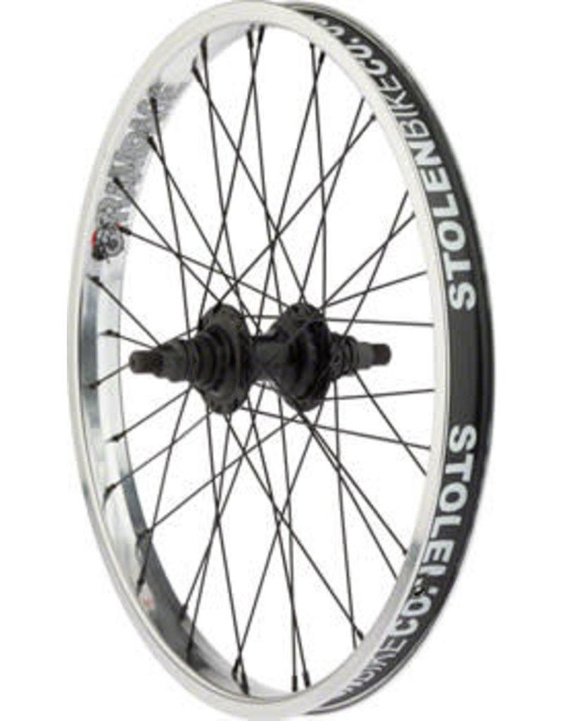 "Stolen Stolen Rampage Rear Wheel - 20"", 14 x 110mm, Rim Brake, Cassette, Polished, Clincher"