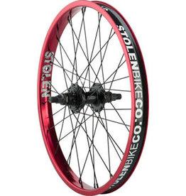 """Stolen Stolen Rampage Rear Wheel - 20"""", 14 x 110mm, Rim Brake, Cassette, Red, Clincher"""