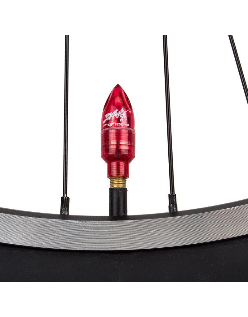 Tire Sparx Red Valve Cap Lights w/Battery, Pair (2)