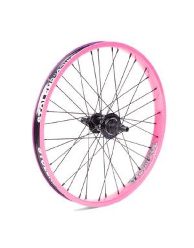 "Stolen Stolen Rampage Rear Wheel - 20"", 14 x 110mm, Rim Brake, Freecoaster, Cotton Candy, Clincher"