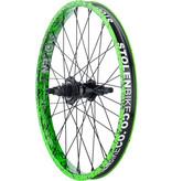 """Stolen Stolen Rampage Rear Wheel - 20"""", 14x110mm, Rim Brake, Freecoaster, Toxic Splatter, Clincher"""