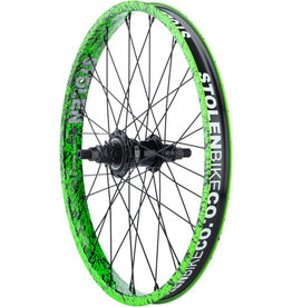 "Stolen Stolen Rampage Rear Wheel - 20"", 14x110mm, Rim Brake, Freecoaster, Toxic Splatter, Clincher"