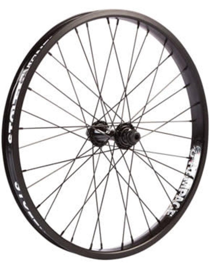"""Stolen Stolen Rampage Front Wheel - 20"""", 3/8"""" x 100mm, Rim Brake, Black, Clincher, Female Axle"""