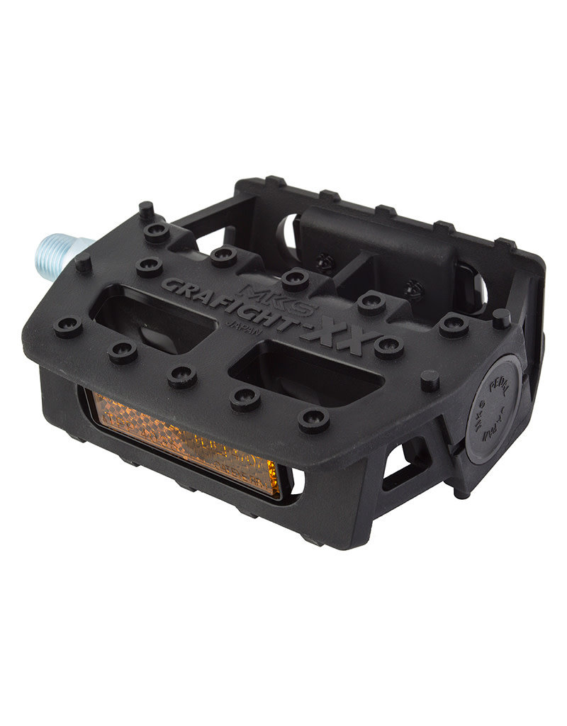 MKS MKS Grafight XX Platform Pedals 9/16 Black