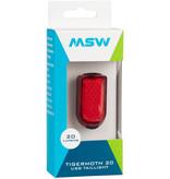 MSW MSW Tigermoth 20 USB Taillight, 20 Lumen, Black