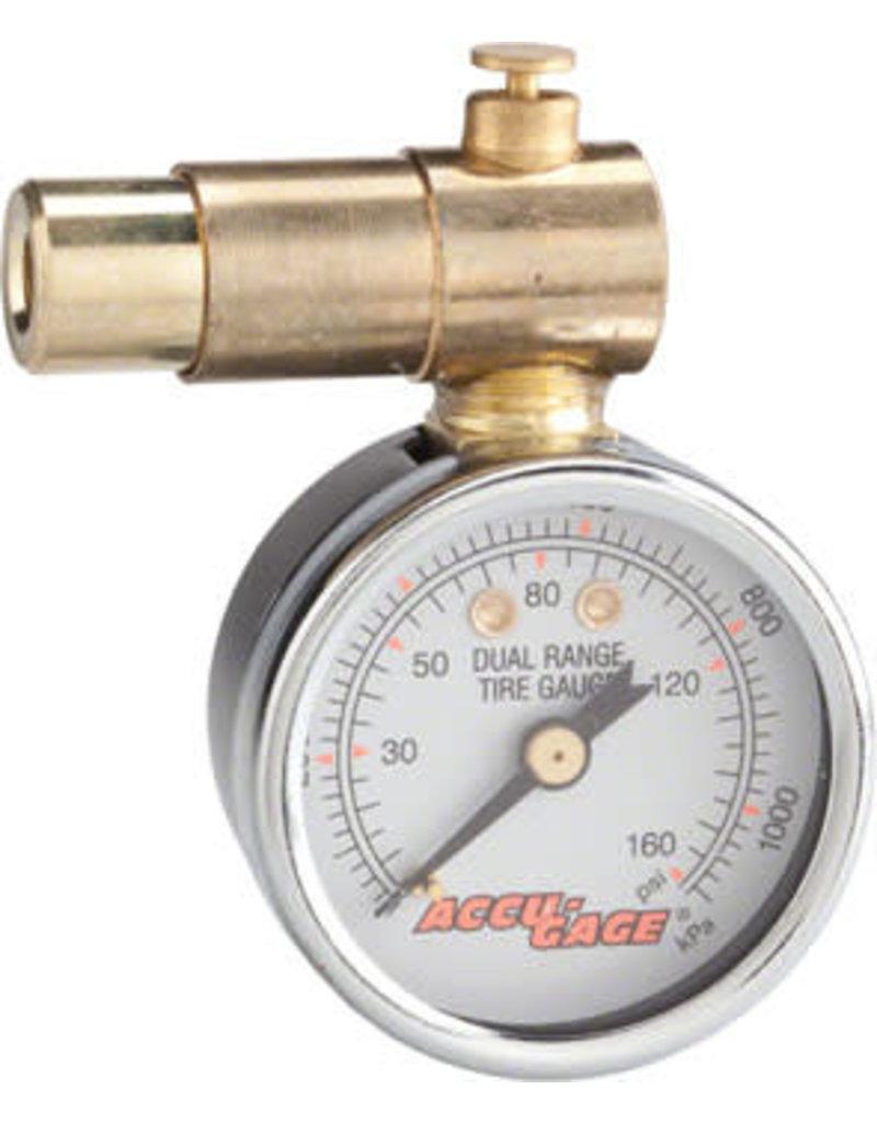 Meiser Presta-Valve Dial Gauge with Pressure Relief: 160psi