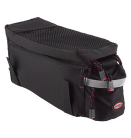 Delta Top Trunk Rack Bag, Expandable Top, Black