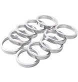 "Wheels Manufacturing 5mm, 1"" Headset Spacer Silver Bag/10"