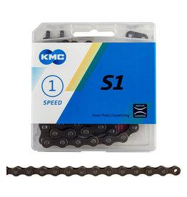 "KMC KMC S1 Chain - Single Speed 1/2"" x 1/8"", 112 Links, Brown"