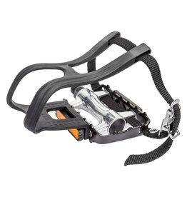 """Sunlite Pedals MTB Lo-Pro Alloy w/ Toe Clips & Straps 9/16"""""""