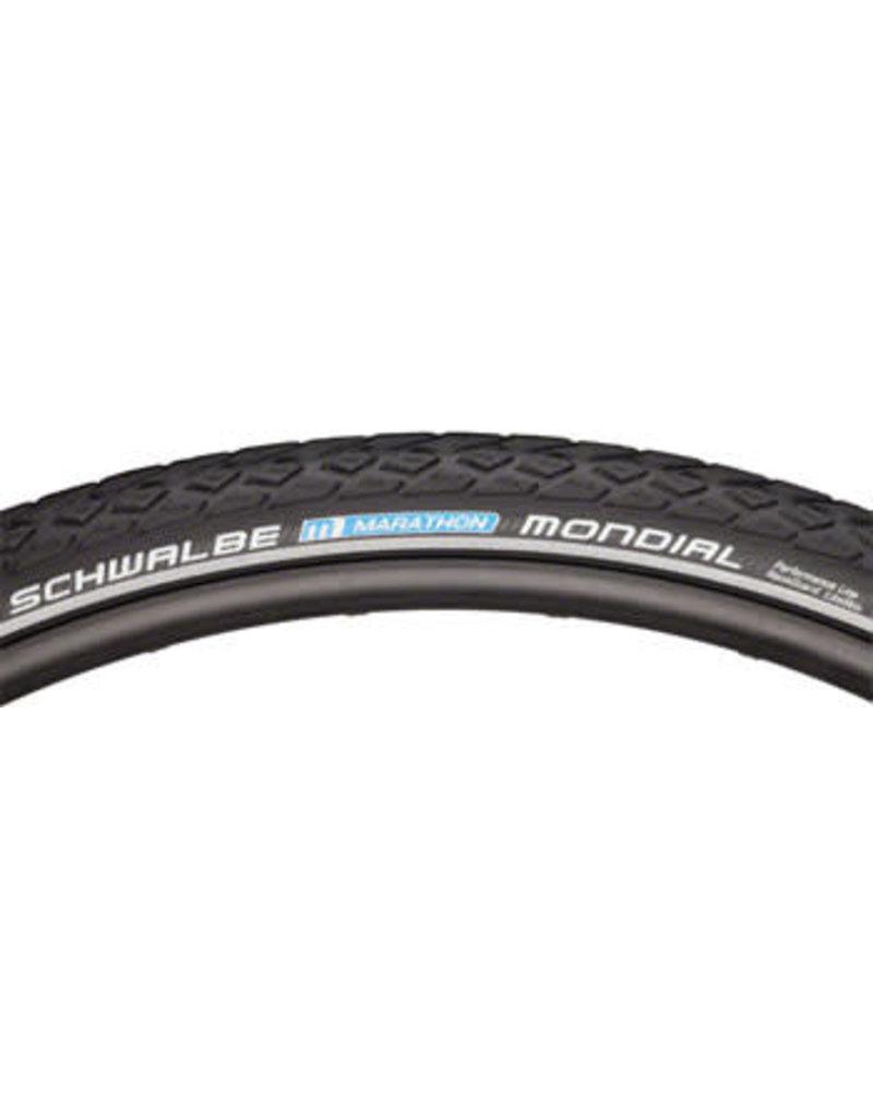 Schwalbe 700x40 Schwalbe Marathon Mondial Tire, Clincher, Wire, Black/Reflective, Performance Line