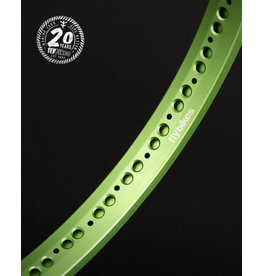 """Flybikes FlyBikes 20"""" Classic Front Rim 36H Flat Green"""