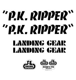 SE BIKES SE Racing Decal Set, PK Ripper Black