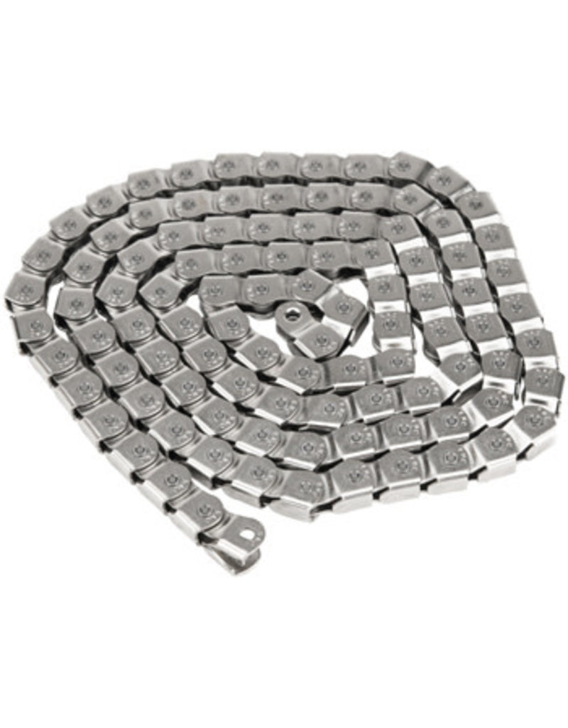 "Salt Salt Cool Knight Chain - Single Speed 1/2"" x 1/8"", 100 Links, Silver"