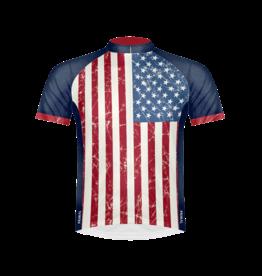 Primal Stars & Stripes Men's Sport Cut Cycling Jersey