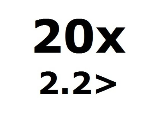 20 More than 2.2