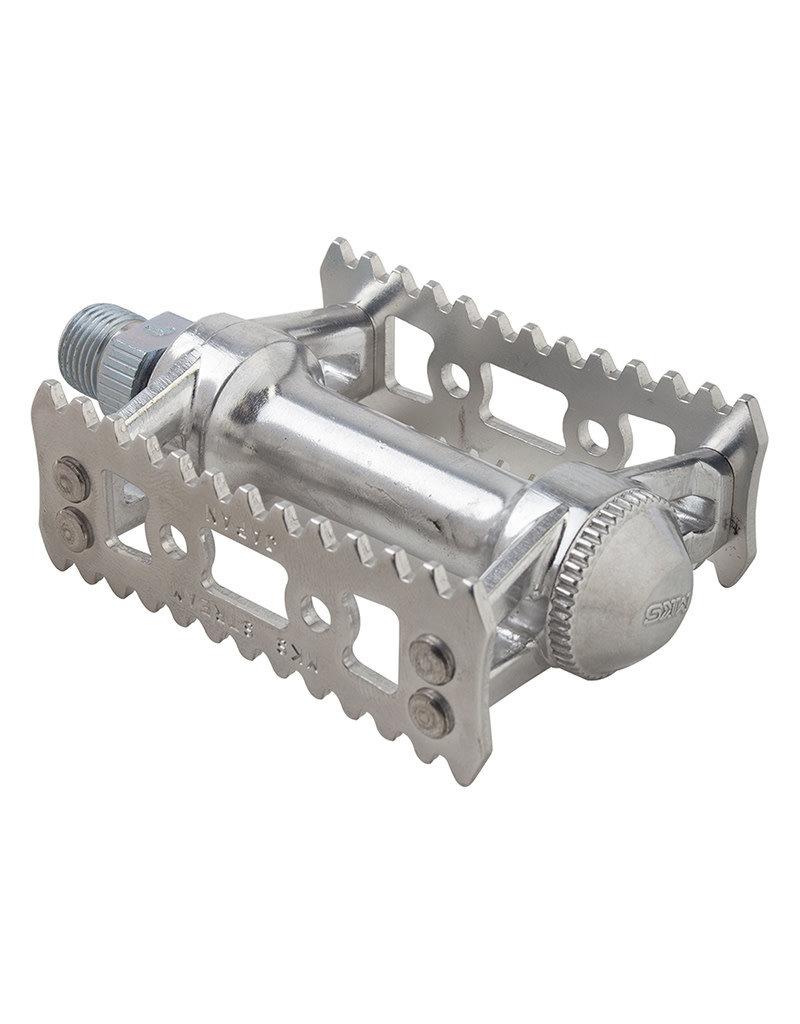 MKS MKS Sylvan Stream Pedals, Silver 9/16