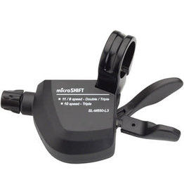 Microshift microSHIFT MarvoLT Left Trigger Shifter, Triple, Alloy Lever, Shimano Compatible