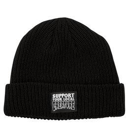 Creature Support Long Shoreman Beanie Hat Creature, Black